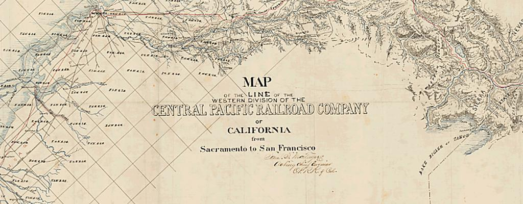 Photo of 1865 Central Pacific Railroad Map
